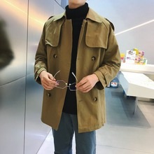 Mens Trench Classic Double Breasted Windproof Coats Men Long Coat Masculino Clothing Plus Size Overcoat Fashion