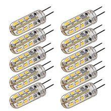 Beeforo 10 sztuk G4 1.5 W 24 SMD 3014 100-120 LM ciepły biały/zimny biały T żarówki corn DC 12 V