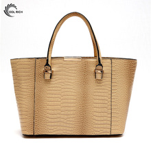 2017 Crocodile PU Women Leather Handbag Messenger Bags Handbags Women Famous Brands Shoulder Bag Ladies Totes
