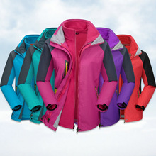 2016 new winter men's jackets two piece three female one lovers of warm ski mountaineering