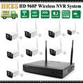 Listagem do novo Plug & Play P2P Nuvem 8CH NVR Sistema de CCTV Sem Fio 8 Canais Visão 960 P HD IR Ao Ar Livre Câmera IP WI-FI