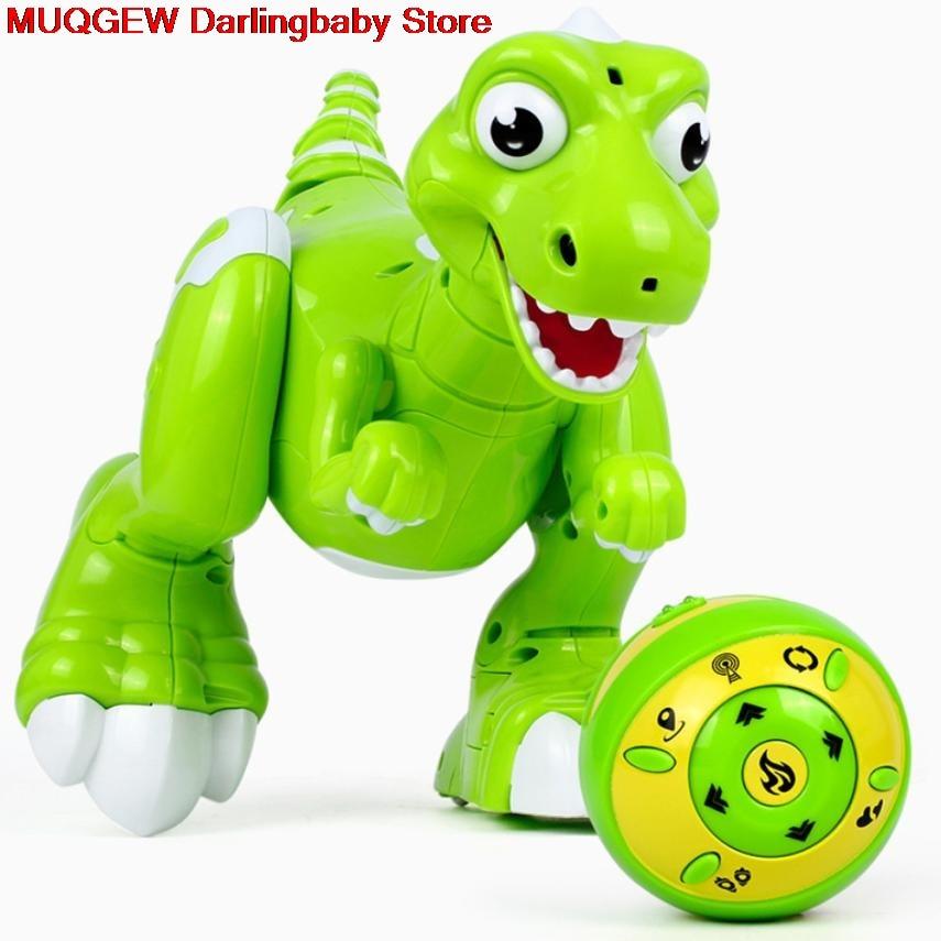 Robot Dinosaure Sans Fil RC Télécommande Plaisir Interactif Drôle Gadgets Nouveauté Intéressant Jouets Pour Enfants Cadeau D'anniversaire D'enfant