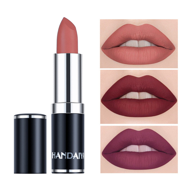 HANDAIYAN Nude Matte Velvet Lipstick Tint 12 Color Waterproof Smooth Lip Stick Long Lasting Red Color Lip Cosmetics Beauty TSLM2 4