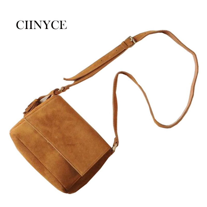 2018 New Arrival Women's Crossbody Bags Solid Scrub Leather Women Shoulder Bag Small Flap Suede Handbag Messenger Bags for Girls hot sale popular women scrub leather design cross body bag girls shoulder bag female small flap handbag top handle bags