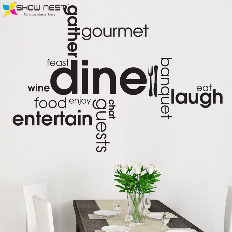Kitchen Dining Word Quotes Wall Decals