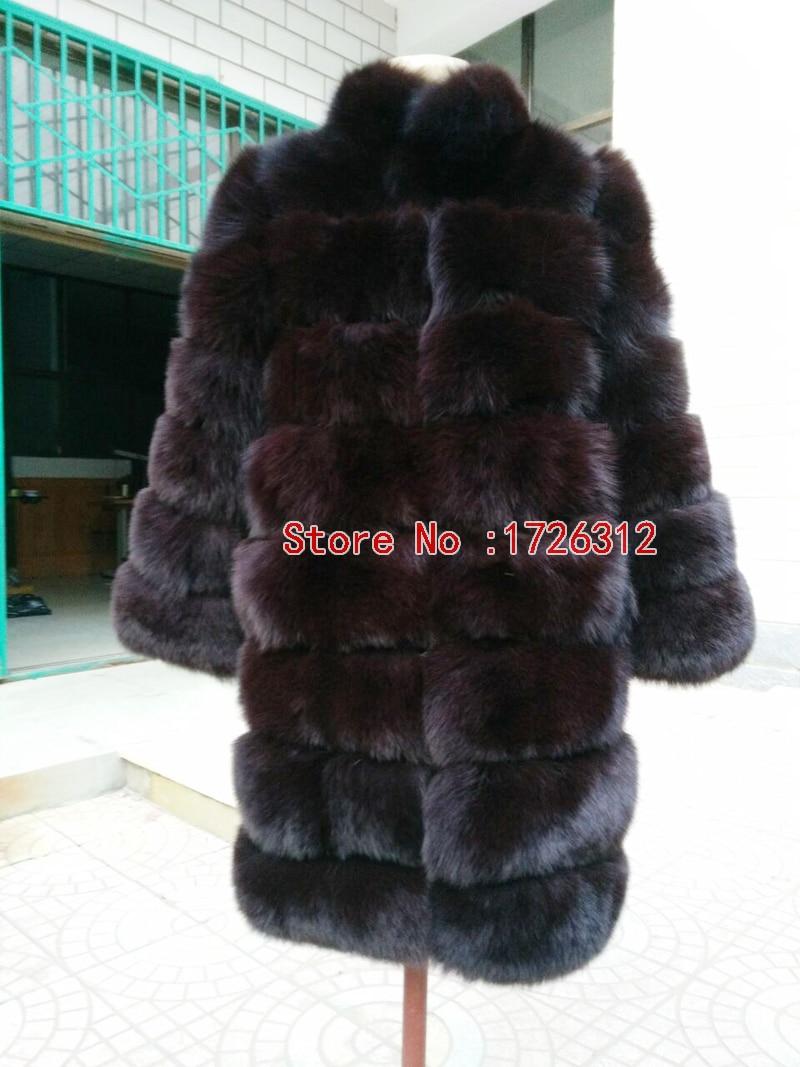 Skutečný liščí kožešinový kabát Liška kožichový obojek - Dámské oblečení