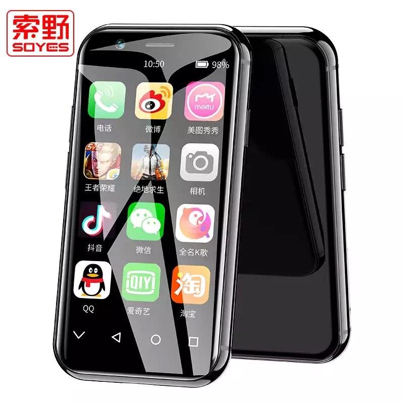 2019 New SOYES XS 4G 3.0 Screen Mini Smartphone 3GB+32GB Android 6.0 1580mAh Bluetooth4.0 Wifi GPS Glass Body Backup PK SOYES 7S2019 New SOYES XS 4G 3.0 Screen Mini Smartphone 3GB+32GB Android 6.0 1580mAh Bluetooth4.0 Wifi GPS Glass Body Backup PK SOYES 7S