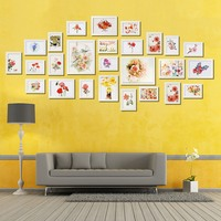 Luxury White 26PCS Photo Frame Picture Wall Mounted Wood Photo Picture Frame Wall Collage Home Kids