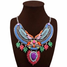цены Fashion Chokers Necklaces for Women Vintage Necklace Rhinestone Flower Statement Necklace Jewelry Maxi Necklaces & Pendants