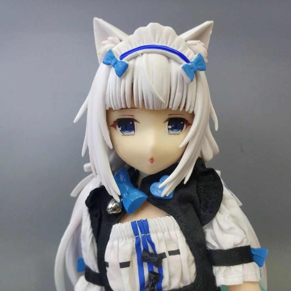 24cm NEKOPARA baunilha Maid Action figure brinquedos coleção de bonecas de Pano de presente de Natal sem caixa