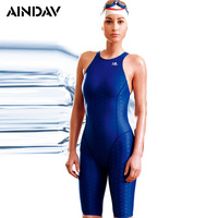 Racing Professional One Piece Swimsuit Shark Skin Like Arena Swimwear Women Three Quarter Shorts Bathing Suits Sport Bodysuit