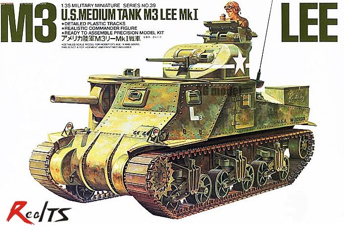 RealTS Tamiya model 35039 1/35 US Army M3 Lee plastic model kit цена