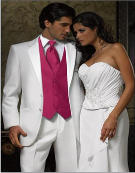 Classic Style Groom Tuxedos 3 Color Groomsman Suit Custom Made Man Suit As Wedding suit Homecoming Suits (Jacket+pants+vest+tie)