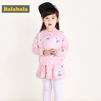 Balabala Tracksuit For Girls Spring Cotton Clothes Set Long Sleeve Clothing For Children 2pcs Lot Flower