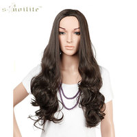 Snoilite 25 Long Curly 3 4 Half Wig Synthetic Kanekalon For Women Daily Party Hair Wigs