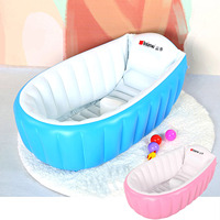 NC Portable Travel Baby Infant Toddler Inflatable Bathtub Shower Basin Air Swimming Pool Foldable Anti Slip