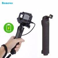 Nieuwste Handheld Selfie Stick met 3300 mAH Power Bank Draagbare Monopod met Oplaadkabel voor Gopro Hero 4/3/3 +/2 SJCAM Xiaoyi