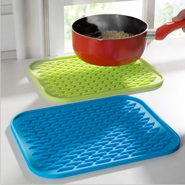 2 pcs silicone pot holder trivet mat baking gadget kitchen table mat waterproof heat insulation non slip tableware pad coasters - Kitchen Table Mats