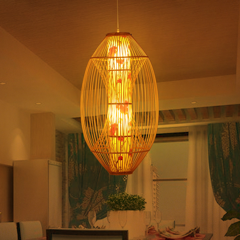 chinese bamboo chandelier southeast asian style cafe lamp lighting lamp woven rattan mediterranean gardenchina asian style lighting