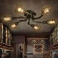 Американский Ретро стиль промышленный Лофт потолочный светильник творческая личность железные водопроводные трубы Ресторан Бар гостиная ...