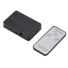 Larryjo 3x1 hdmi divisor de 3 entradas, hub, caixa automática, interruptor 3 em 1, interruptor para saída 1080p hd 1.4 com controle remoto para hdtv xbox360 ps3
