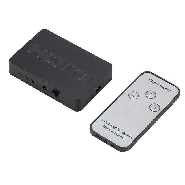 Larryjoe 3x1 rozdzielacz HDMI 3 portowy Hub Box Auto przełącznik 3 w 1 na zewnątrz przełącznik 1080p HD 1.4 za pomocą pilota zdalnego sterowania do telewizora HDTV XBOX360 PS3