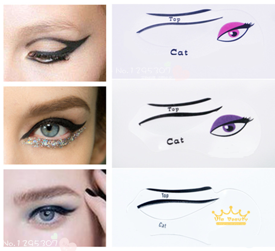 image relating to Eyeliner Stencil Printable identified as Cat Eye Make-up Printable Stencil