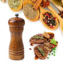 5 Inch Oak Grinding Machine, Pepper Mill, Manual Multi-purpose Condiment Bottle, Kitchen Tools