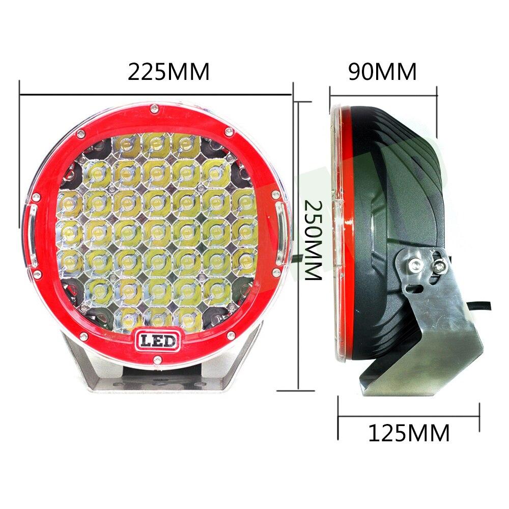 YNROAD 111w 9inch Կարմիր կլոր լուսադիոդային - Ավտոմեքենայի լույսեր - Լուսանկար 4
