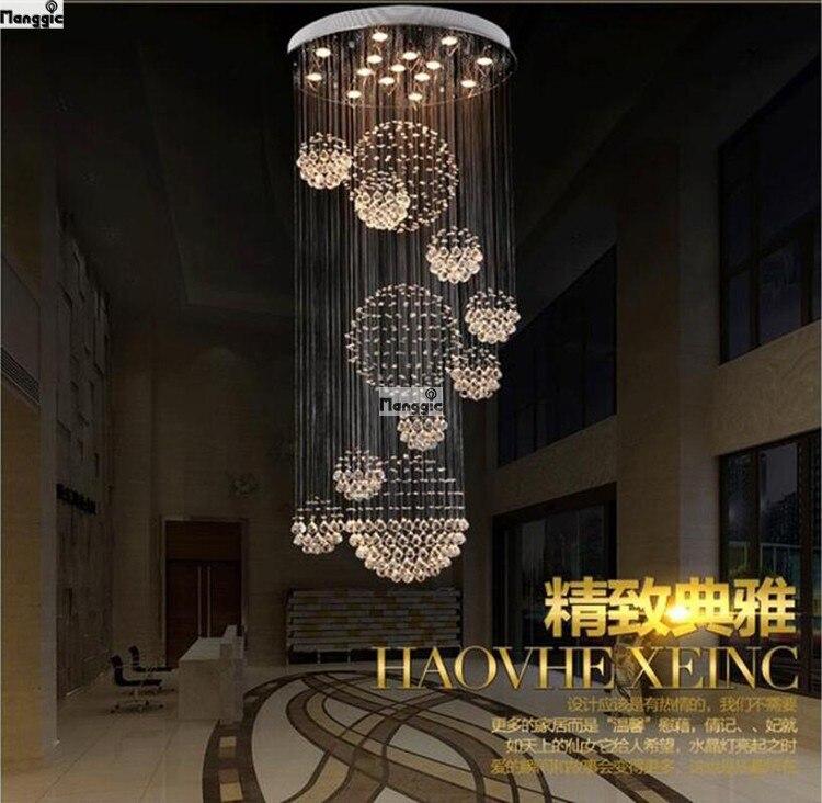 new modern k9 crystal chandelier large hotel chandelier. Black Bedroom Furniture Sets. Home Design Ideas