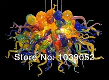 Free shipping elegant colored amber blown glass chandelier lighting (BGC2089)