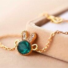 Rabbit Shape Crystal Rhinestones Chain Bracelet