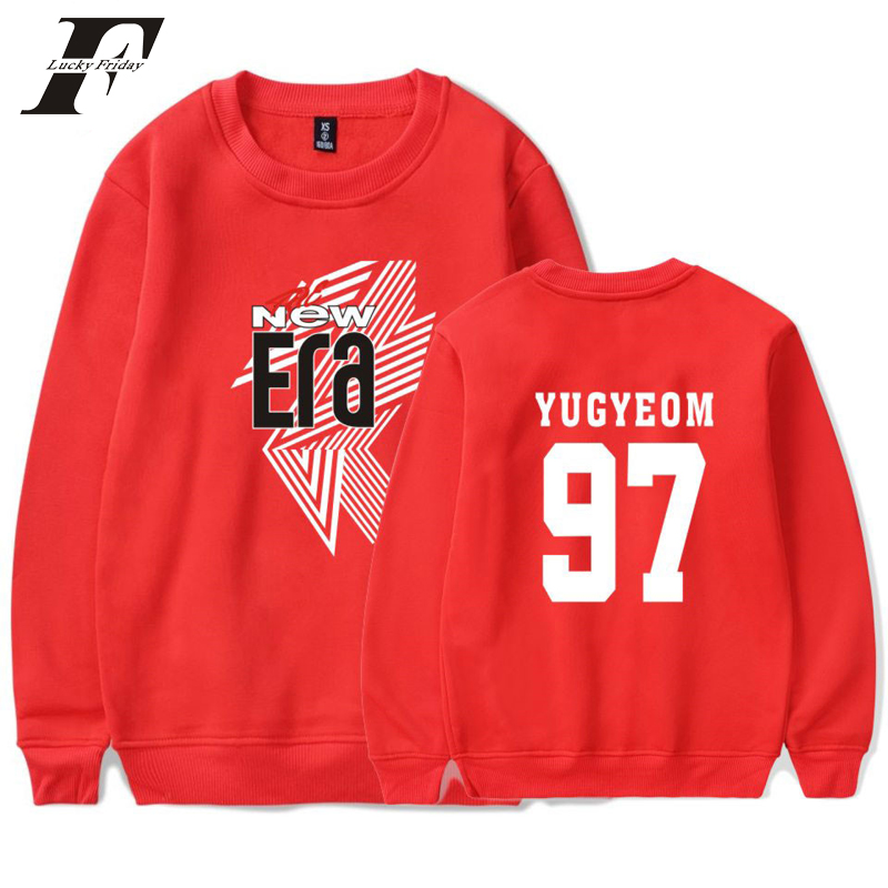 LUCKYFRIDAYF 2018 GOT7 Idols Mark 04 FM The New Era Women Casual Fashion Autumn Sweatshirt Popular Capless Men Cool streetwear