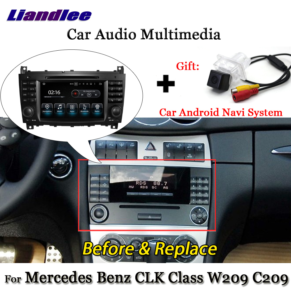 Liandlee Android 7.1 For Mercedes Benz CLK Class W209 C209 2005~2012 Radio  TV Carplay Camera Wifi GPS Navi Navigation Multimedia-in Car Multimedia  Player ...