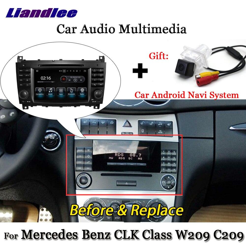 Liandlee Android 7.1 pour Mercedes Benz CLK classe W209 C209 2005 ~ 2012 Radio TV Carplay caméra Wifi GPS Navi Navigation multimédia