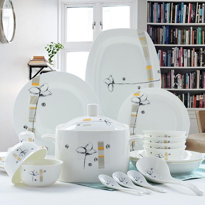 56piece Set, Bone China Dinnerware Sets, Cute Creative