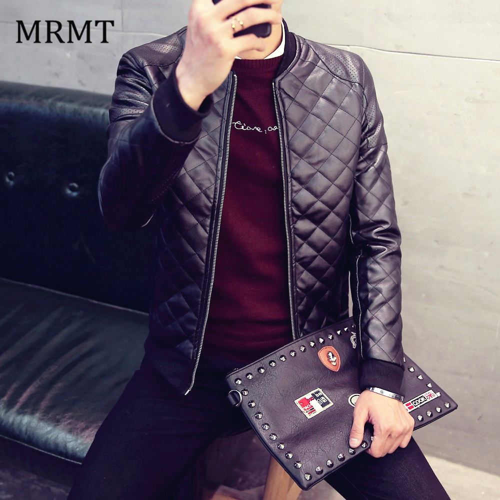 2019 Brand Mens Leather Jacket Coat Fall Winter Biker Bomber Male Jacket Thin Men'S Jackets Men PU Warm Coats New Clothing