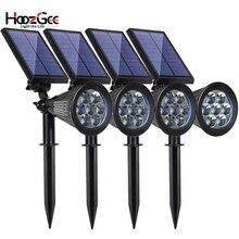 HoozGee фонарь на солнечных батареях прожектор для газонов открытый сад 7 светодиодный регулируемый 7 цветов в 1 настенный светильник ландшафтный свет декор для патио