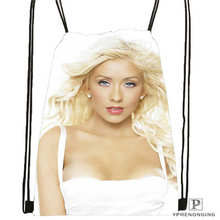 Custom christina aguilera Drawstring Backpack Bag Cute Daypack Kids Satchel Black Back 31x40cm 180612 03 christina