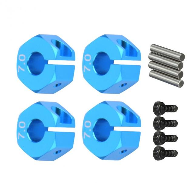 4 stks/set Schroeven 7.0 Wheel Hex 12mm Drive Adapter Hub Voor HSP Auto RC Model Voertuig Accessoire Met Pins & schroeven RC Reparatie Tool