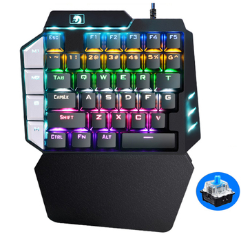 Gaming Keyboard One-Handed Mechanical for PUGB Mobile Game Left-Hand PC Laptop+Gaming Mouse Gamer