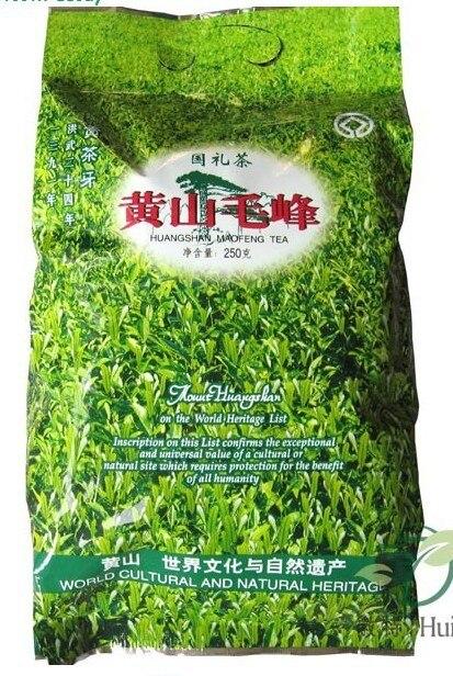 250 g primavera chá verde, Orgânica Huangshan Maofeng chá, 2014 chá fresco, Montanha amarela Fur peak, Transporte Fress