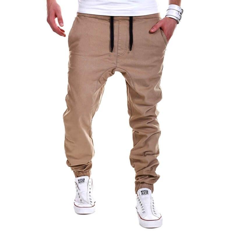 aae26a86ae51f6 2018 New Brand Mens Khaki Pants Hip Hop Harem Joggers Pants Male Trousers  Casual Mens Joggers