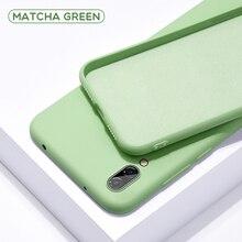 Original Liquid Silicone Case For Xiaomi Mi 9 8 SE Mi8 Lite 6X A2 Official On Redmi Note 7 Pro Redmi7 Y3