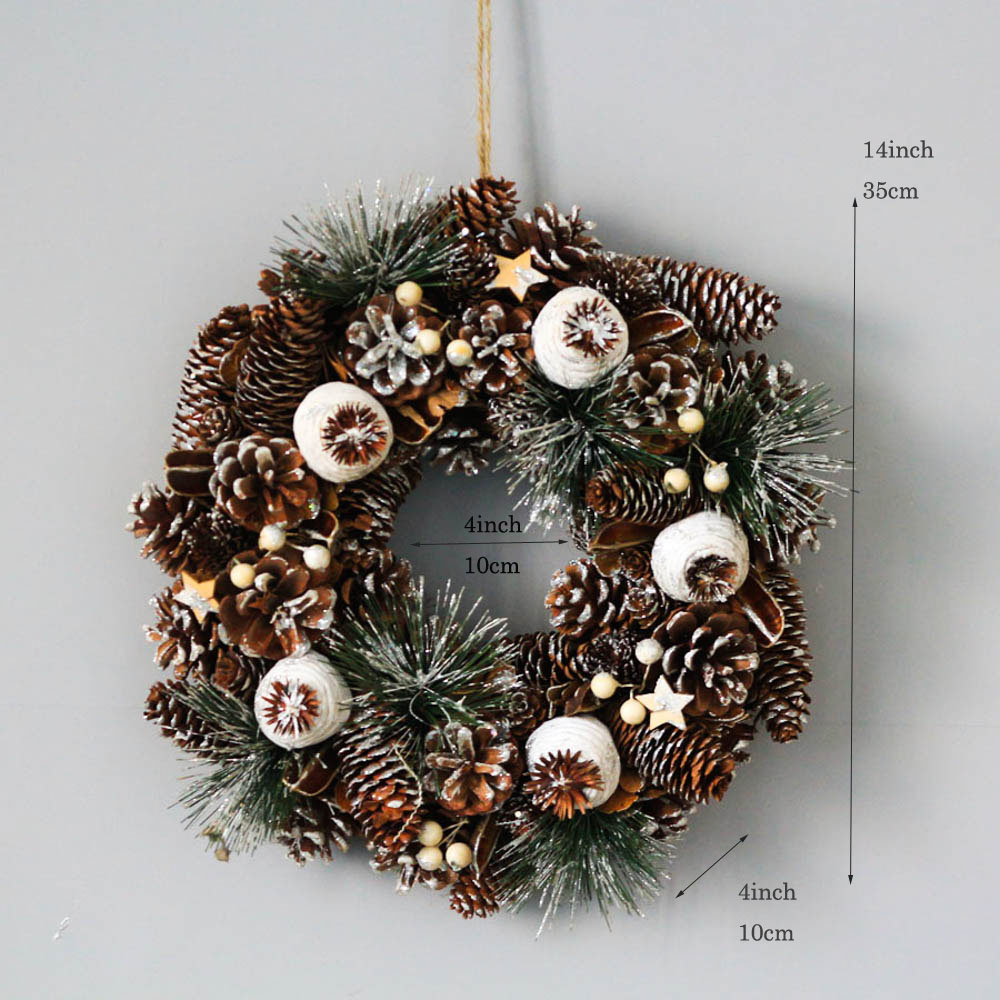 New Year Party Garlands Wedding Decor For Home Wreath Door Rustic Decoration Christmas White Wreath Natal Xmas Garland Flowers
