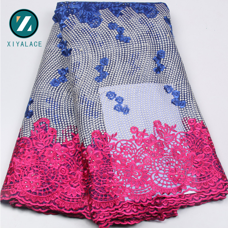 African Lace Fabric 2017 Embroidered Nigerian Laces Fabric Bridal High Quality French Tulle Lace Fabric For