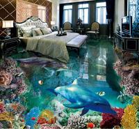 Custom 3d floor The underwater world self adhesive wallpaper 3d floor wallpaper photo wall mural 3d stereoscopic wallpaper