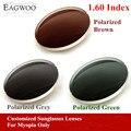 Eagwo 1.60 Índice de Prescrição Óculos de Sol Óculos De Sol de Lentes para Miopia Lentes Polarizadas Cinza Marrom Verde Anti UV Anti Brilho 160