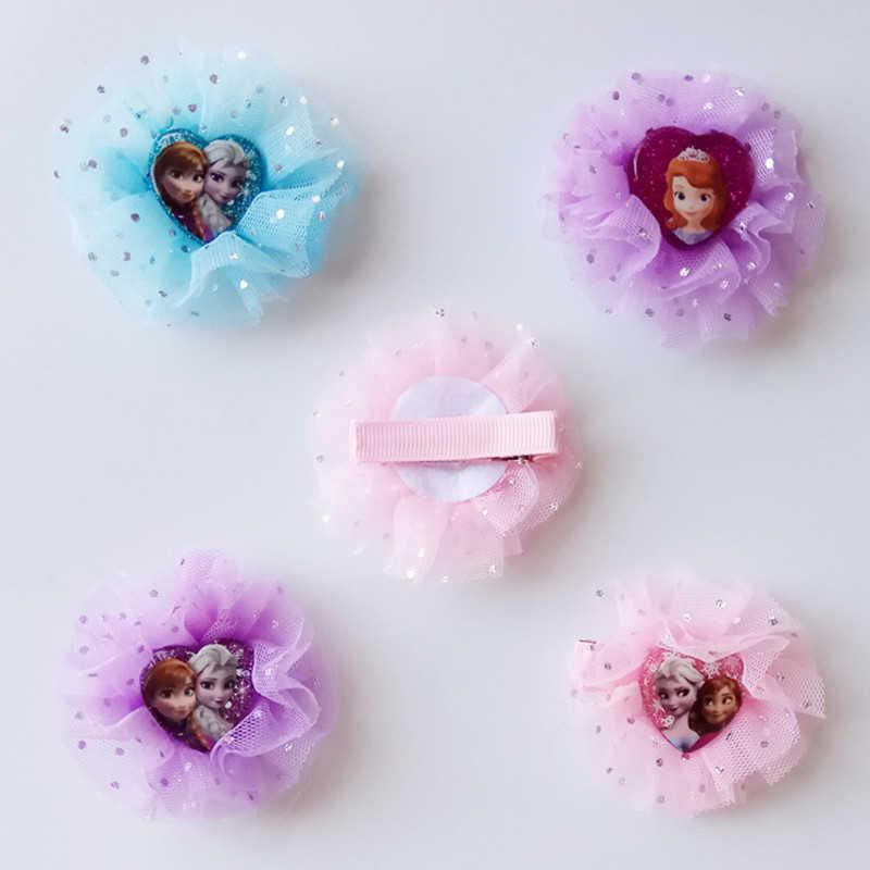 2 pcs การ์ตูนดิสนีย์แช่แข็งเด็กผมคลิปสาวของขวัญตุ๊กตาอุปกรณ์เสริมผม headwear เด็กเครื่องสำอางหัวคลิปเจ้าหญิง elsa