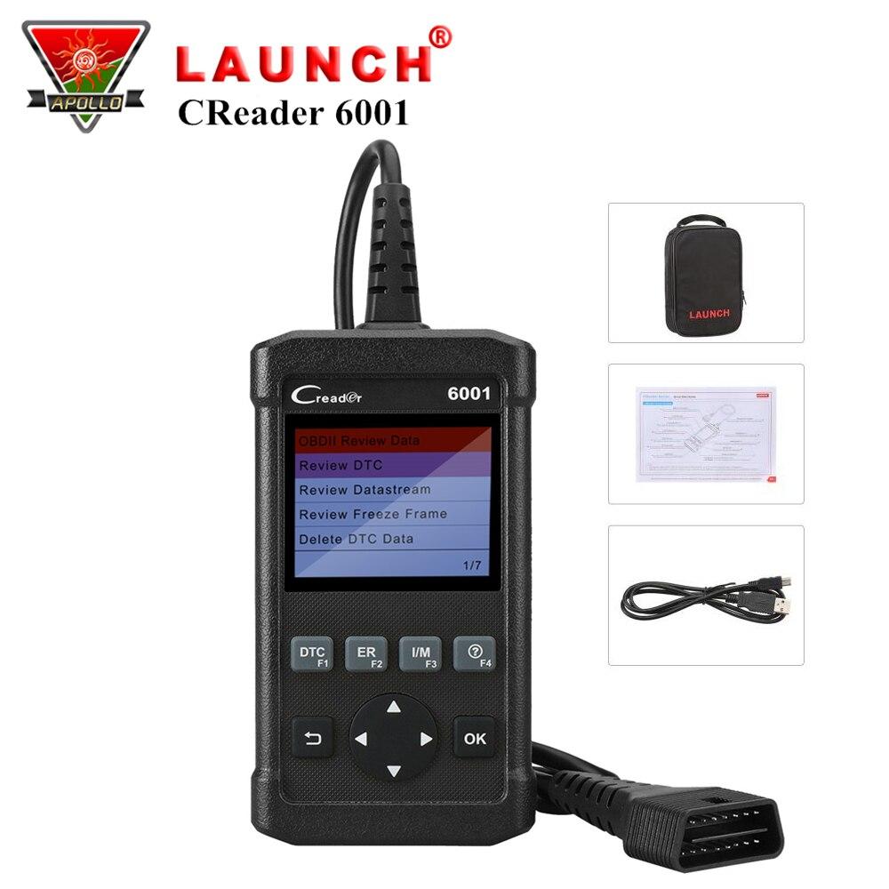 Launch DIY Читальный инструмент кодов CReader 6001 Инструмент сканирования полные OBDII функции Поддержать тестирование O2 Сенсора Печать данные через ...